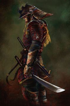 """♂ World martial art Japanese Samurai 侍 Bushidō 武士道 literally """"the way of the warrior"""", is a Japanese word for the way of the samurai life, loosely analogous to the concept of chivalry. Fantasy Warrior, Fantasy Art, Fantasy Samurai, Fantasy Blade, Asia Tattoo, Samurai Warrior Tattoo, Ronin Samurai, Samurai Artwork, Japanese Warrior"""