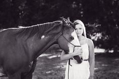 A girl and her horse. #country #horses #photography