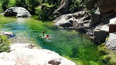 Fiumicelli 4, Flusswanderung in Korsika