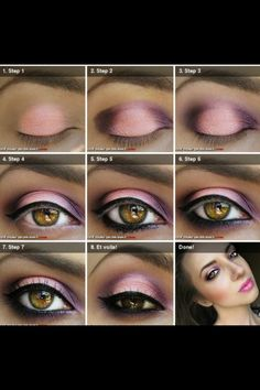 Pink and Purple makeup tutorial love it :)