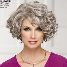 Meryl WhisperLite® wig by Paula Young® # .- Meryl WhisperLite® Perücke von Paula Young® Meryl WhisperLite® Wig by Paula Young® - Grey Curly Hair, Curly Hair Cuts, Short Curly Hair, Wavy Hair, Short Hair Cuts, Curly Hair Styles, Fine Hair, Curly Bob Hairstyles, Gray Hairstyles