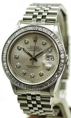 - Item Number: MANDJSDBSLVBGTJUB - Brand: Rolex - Model Number: 16014 - Series: Datejust - Gender: Mens - Case Material: Stainless Steel - Case Diameter: 36mm - Dial Color/Diamond Quality: Silver Colo