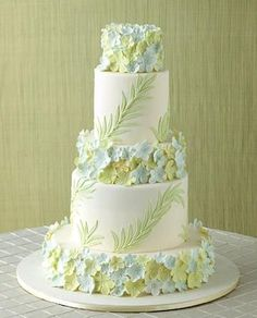 For more #pastel wedding ideas ... http://pinterest.com/groomsandbrides/pastel-wedding-group-board/ ... Pastel Wedding Cake, New York City-Michelle Rago Destinations