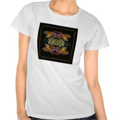 """Image: © E. B. Schmidt. All Rights Reserved. *** Inspirational T-shirt featuring EB's """"Butterfly Reflections 02 - Monarch"""" bordered with the words """"All Creatures of our God and King, Lift up your voice and sing..."""" a quote from one of EB's contemporary Christian worship songs. The image is part of a digital artwork series title """"Butterfly Reflections"""" and available, with or without text, in larger prints, canvas, metal and acrylic prints through this artist's website: www.ebschmidt.com"""