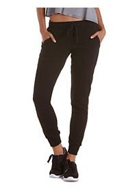 Zipper Pocket French Terry Jogger Pants