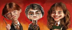 Harry Potter - (Ron Weasley) Rupert Grint, Daniel Radcliffe and(Hermione Granger) Emma Watson