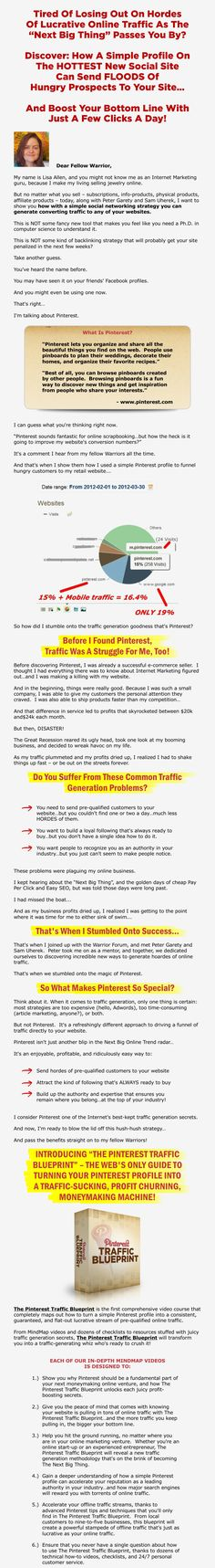 Pinterest Traffic Blueprint – Hordes of lucrative online traffic from a single profile