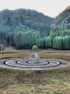 Labyrinth by Dani Karavan in Murou Art Forest, Nara, Japan. Photo: Saho Takamiya