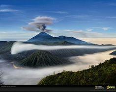Mount Semeru and Mount Bromo in Indonesia