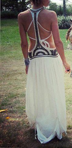 Lovely black style boho maxi dress, but I wonder what the front looks like.