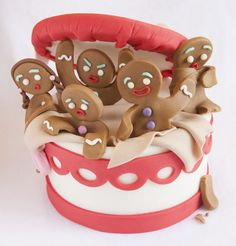 gingerbread men cake