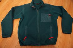 Patagonia Vintage 80's 90's Teal Green Quarter Zip Pullover Fleece Medium