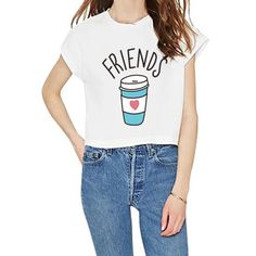 >> Click to Buy << Harajuku Summer t-shirt Women Best Friends T Shirt Donut And Coffee Duo Flower Print Couples Top Women Tops #Affiliate