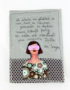 Collagen - Stoffcollage - ein Designerstück von mARTinahaussmann bei DaWanda