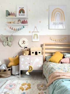 Girls Bedroom Colors, Big Girl Bedrooms, Bedroom Themes, Kids Bedroom, Decorating Toddler Girls Room, Toddler Girl Rooms, Cool Kids Rooms, Nursery Room, Decoration