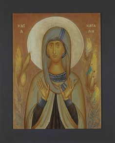 SAINT NATALIA, EGG TEMPERA ON WOOD, 25X35 CM.