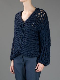 MM6 By Maison Martin Margiela - chunky knit cardigan 8