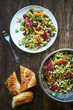 Massaged Winter Brussels Sprout Salad