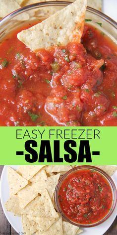 Keto Salsa Recipe, Cooked Salsa Recipe, Salsa Canning Recipes, Fresh Salsa Recipe, Tomato Salsa Recipe, Fresh Tomato Recipes, Veggie Recipes, Mexican Food Recipes, Appetizer Recipes