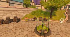 Fantasy Faire 2016 Sim - Bright Haven Woodland, Sims, Patio, Bright, Fantasy, Outdoor Decor, Summer, Mantle, Fantasy Books