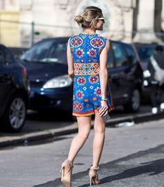 Look Helena Bordon street style na Paris Fashion Week.