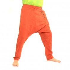 Haremshose - naranja/braun