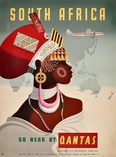 The Travel Tester vintage travel poster collection. It's time to get nostalgic with this week's retro destination: Vintage Travel Posters South Africa Retro Poster, Poster Art, Kunst Poster, Retro Print, Vintage Travel Posters, Print Poster, Travel Ads, Airline Travel, Vintage Advertisements