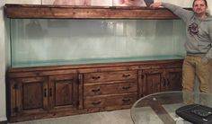 Bespoke Fish Tanks Solid Wood Cabinets