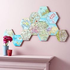 Are you interested in our Hexagon vintage map location globe trotter ? With our Collectable map wall art wedding gift you need look no further.
