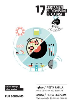 Cartel Fiesta Paella + Fiesta Clausura - Bohemios