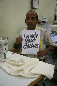 Fashion Revolution Day at Mehera Shaw.  Puran Ji is one of our stitchers and has been part of our team for many years.