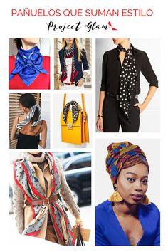 Porque no sólo lo puedes llevar al cuello. Mira todas las opciones que tienes para inspirarte. Viejo Hollywood, Cosmo Girl, Scarves, Womens Fashion, Casual, Inspiration, Life Tips, Style, Bold Prints