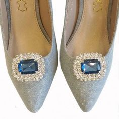 Navy Diamante Shoe Clips Diamante Shoes, Shoe Clips, Slippers, Flats, Jewellery, Navy, Fashion, Loafers & Slip Ons, Hale Navy