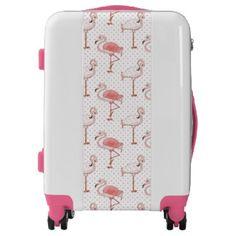 Beach Pink Flamingo pattern Ugo Luggage suitcase