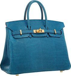 "Luxury Accessories:Bags, Hermes 25cm Mykonos Lizard Birkin Bag with Gold Hardware.Excellent Condition. 9.5"" Width x 8"" Height x 5""Depth. ..."