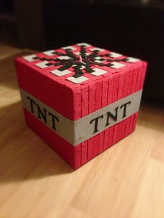 TNT piñata by PleasantlyPinatas on Etsy Valentine Day Boxes, Valentines For Boys, Valentine Crafts, Death Star Pinata, Video Game Party, Minecraft Christmas, Minecraft Birthday Party, Holiday Fun, Parfait