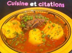 Ma marka jelben batata... Ou ragout petits pois et pommes de terre... - Le blog de cuisineetcitations-leblog