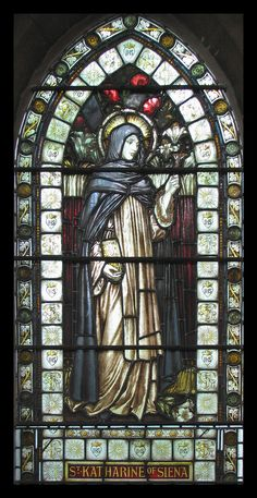 St. Catherine of Siena | http://www.saintnook.com/saints/catherineofsiena  https://flic.kr/p/4JA71p | An unexpected encounter... | St Catherine is patroness of Italy and universally popular as a spiritual guide, mystic and saint. Nevertheless, this window in the Anglican church of St Giles in Cambridge was unexpected...  29 April is the feast day of this Dominican saint.