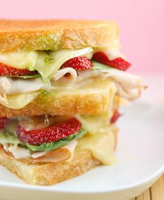 Zingy Berry Basil Turkey Grilled Cheese Sandwich