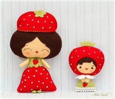 Hadas de las fresas   felt