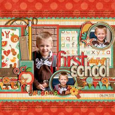 Used the following from the Sweet Shoppe Cindy s Layered Templates Set 116 by Cindy Schneider School Days by Zoe Pearn Some Elements from It s Elementary by Dani Mogstad Art and Soul Alpha Bold Julie Billingsley Paint Wash Julie Billingsley Stitching Trac