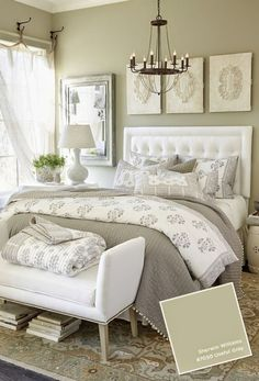Unique Home Architecture ♥CESPINS♥ LOVING THIS INCREDIBLY BEAUTIFUL BEDROOM! - THE COLOUR PALETTE IS SUPERB AS IS THE REST OF THIS GLAMOROUS BEDROOM. ⚜
