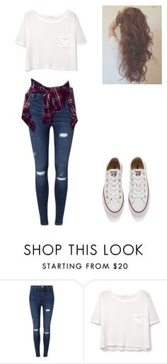 """casual day for school"" by marilyn341 ❤ liked on Polyvore featuring Miss Selfridge, MANGO, Converse, women's clothing, women, female, woman, misses and juniors"