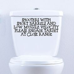 Shooters with Short Barrels Bathroom Wall by SweetumsSignatures