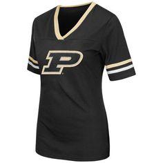 Purdue Boilermakers Colosseum Women's Aurora Short Sleeve T-Shirt - Black