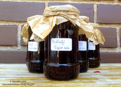 Jams & Pickles – Awfully Tasty Sour Cherry Jam, Thing 1, Pickles, Tasty, Wine, Coffee, Bottle, Drinks, Coffee Cafe