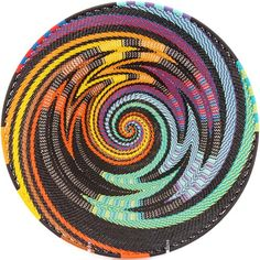 African Basket - Zulu Wire - Shallow Bowl #40760