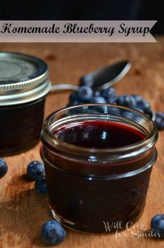 Homemade Blueberry Syrup |willcookforsmiles.com | #syrup #blueberry #breakfast #dessert
