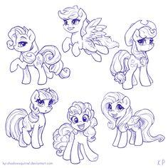 Those Cute Ponies by KP-ShadowSquirrel on DeviantArt Pony Drawing, Drawing Stuff, Drawing Ideas, My Little Pony Twilight, Mlp Fan Art, Cute Ponies, My Little Pony Merchandise, My Little Pony Pictures, Fluttershy