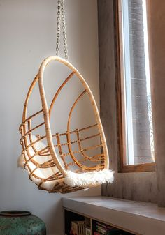 A hanging chair in the corner now lets you gaze out onto the world.